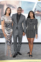 "LOS ANGELES - JUL 13:  Sabrina Dhowre Elba1056, Idris Elba, Isan  at the ""Fast & Furious Presents: Hobbs & Shaw"" Premiere at the Dolby Theater on July 13, 2019 in Los Angeles, CA"