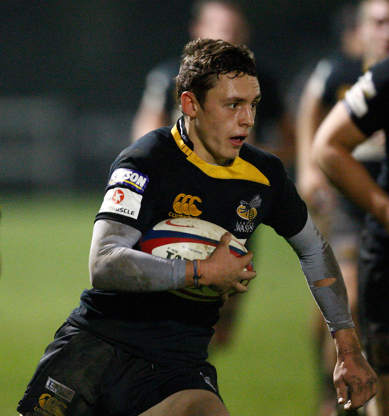 Photo: Richard Lane/Richard Lane Photography. London Wasps A v Harlequins A. Aviva A League. 01/11/2010. Wasps' Gavin Wallace.
