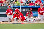 24 February 2019: Washington Nationals outfielder Hunter Jones slides home to score a run during a Spring Training game against the St. Louis Cardinals at Roger Dean Stadium in Jupiter, Florida. The Nationals defeated the Cardinals 12-2 in Grapefruit League play. Mandatory Credit: Ed Wolfstein Photo *** RAW (NEF) Image File Available ***