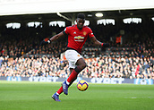 9th February 2019, Craven Cottage, London, England; EPL Premier League football, Fulham versus Manchester United; Paul Pogba of Manchester United in action