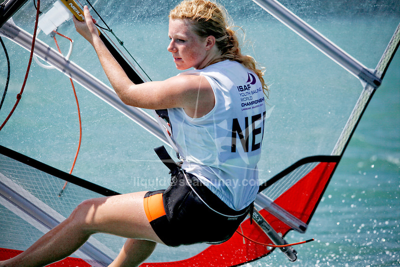 NetherlandsRS:XWomenHelmNEDIH2IsisHoekstra<br /> Day1, 2015 Youth Sailing World Championships,<br /> Langkawi, Malaysia