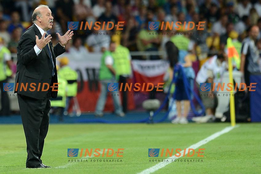 "Vicente del Bosque Spain.Kiev 01/07/2012  ""Stadio Olimpico"".Football calcio Europeo 2012 Spagna Vs Italia.Football Calcio Euro 2012.Foto Insidefoto Alessandro Sabattini..."