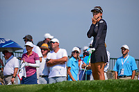 Belen Mozo (ESP) watches her tee shot on 16 during Thursday's first round of the 72nd U.S. Women's Open Championship, at Trump National Golf Club, Bedminster, New Jersey. 7/13/2017.<br /> Picture: Golffile | Ken Murray<br /> <br /> <br /> All photo usage must carry mandatory copyright credit (&copy; Golffile | Ken Murray)