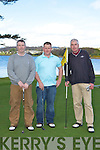 Tim Healy, Brian O'Regan and Paudie Horan Killarney competing in the O'Keeffe's Oil Strokeplay competition in Killarney Golf club on Sunday