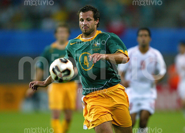 Fussball International FIFA Confederations Cup 2005 Australien-Tunesien Lucas Neill (AUS) Photo: Pressefoto Ulmer / Christoph Angermann