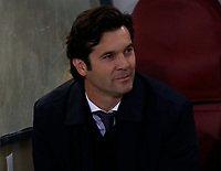 Santiago Solari coach of Real Madrid  during the Champions League Group  soccer match between AS Roma - Real Madrid  at the Stadio Olimpico in Rome Italy 27 November 2018