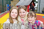 Seodhla O'Donoghue, Kacey O'Connor and Charolette Baggett Glenbeigh at official opening of Rainbows playground in Glenbeigh on Sunda.