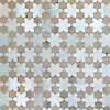 Cadiz, a waterjet stone mosaic, shown in polished Ming Green and honed Jura Grey, is part of the Miraflores Collection by Paul Schatz for New Ravenna.<br />