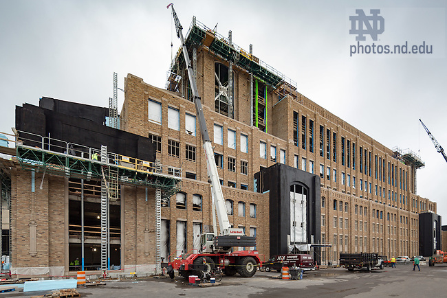 June 23, 2016; Corbett Family Hall construction (Photo by Matt Cashore/University of Notre Dame)