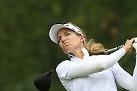 Kris Tamulis (USA) tees off the 13th tee during Thursday's Round 1 of The Evian Championship 2018, held at the Evian Resort Golf Club, Evian-les-Bains, France. 13th September 2018.<br /> Picture: Eoin Clarke | Golffile<br /> <br /> <br /> All photos usage must carry mandatory copyright credit (© Golffile | Eoin Clarke)