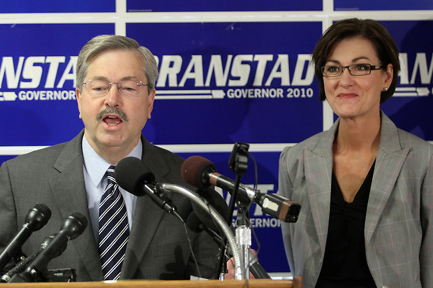 Republican candidate for governor Terry Branstad names state Sen. Kim Reynolds of Osceola as his running mate Thursday, June 24, 2010, elevating the southern Iowa freshman legislator to the statewide political stage.