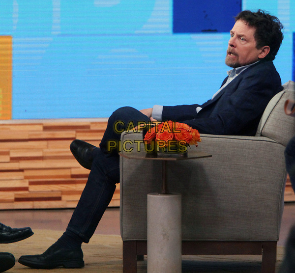 NEW YORK, NY - APRIL 4: Michael J. Fox visits ABC's Good Morning America on April 4, 2018. <br /> CAP/MPI/RW<br /> &copy;RW/MPI/Capital Pictures