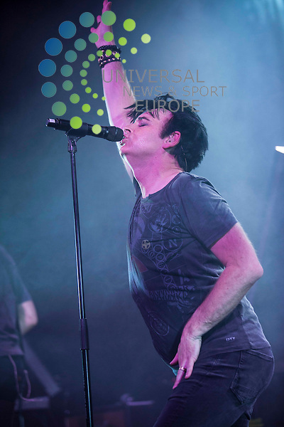 "Gary Numan, an English singer, composer, and musician, most widely known for his chart-topping 1979 hits ""Are 'Friends' Electric?"" and ""Cars"" plays a headline gig at ABC, Glasgow, 23th May 2012....Picture: Justin Moir/Universal News And Sport (Europe) 2012.."