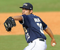 24 February 2008: Florida International pitcher Jorge Marban (33) throws in the Southern California 12-7 victory over FIU at University Park Stadium in Miami, Florida.