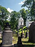 Litwa, Wilno 08.07.2014. Cmentarz na Wileńskiej Rossie, jedna z najbardziej znanych polskich nekropolii narodowych.
