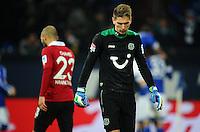FUSSBALL   1. BUNDESLIGA   SAISON 2012/2013    18. SPIELTAG FC Schalke 04 - Hannover 96                           18.01.2013 Sofian Chahed (li)  und Torwart Ron Robert Zieler (re, beide Hannover 96) sind nach dem 2:0 enttaeuscht