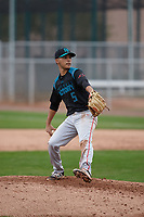 Austin Cappas (5) of Weston Ranch High School in Stockton, California during the Under Armour All-American Pre-Season Tournament presented by Baseball Factory on January 15, 2017 at Sloan Park in Mesa, Arizona.  (Kevin C. Cox/MJP/Four Seam Images)