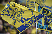11th January 2020, Parc des Sports Marcel Michelin, Clermont-Ferrand, Auvergne-Rhône-Alpes, France; European Champions Cup Rugby Union, ASM Clermont versus Ulster;  Lyon supporters show their colours