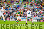 Donnchadh Walsh, Kerry in action against Ciaran Fitzpatrick, Kildare in the All Ireland Quarter Final at Croke Park on Sunday.