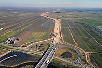 Autobahnbaustelle A26 bei Horneburg: EUROPA, DEUTSCHLAND, NIEDERSACHSEN, HORNEBURG (EUROPE, GERMANY), 12.03.2013: Autobahnbaustelle A26 bei Horneburg