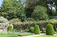 Elizabethan knot garden on the Bowling Green Terrace at Haddon Hall
