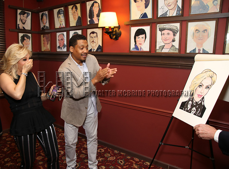 Orfeh and Khalil Kain during the Sardi's Portrait unveiling for Orfeh on July 18, 2019 in New York City.