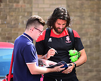 Lincoln City's Michael Bostwick signs autographs<br /> <br /> Photographer Andrew Vaughan/CameraSport<br /> <br /> The EFL Sky Bet League Two - Lincoln City v Morecambe - Saturday August 12th 2017 - Sincil Bank - Lincoln<br /> <br /> World Copyright &copy; 2017 CameraSport. All rights reserved. 43 Linden Ave. Countesthorpe. Leicester. England. LE8 5PG - Tel: +44 (0) 116 277 4147 - admin@camerasport.com - www.camerasport.com