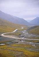 James Dalton Highway (Haul Road) Atigun Canyon, Brooks Range, Alaska