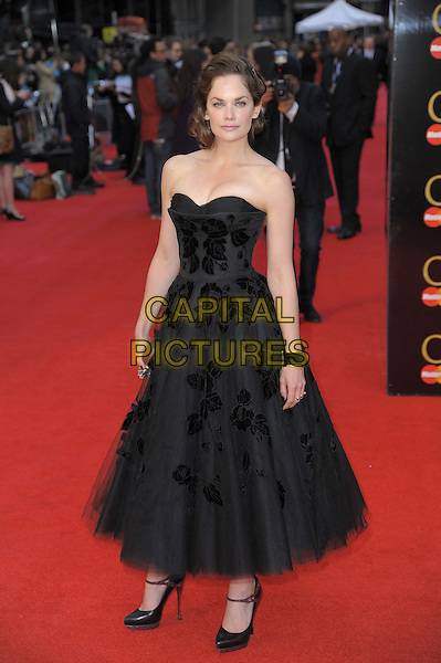 Ruth Wilson.The Olivier Awards 2012, Royal Opera House, Covent Garden, London, England..April 15th, 2012.full length dress black tulle strapless .CAP/CAS.©Bob Cass/Capital Pictures.