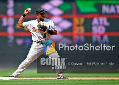 13 July 2008: Houston Astros' shortstop Miguel Tejada completes a double play in the 8th inning against the Washington Nationals at Nationals Park in Washington, DC. The Astros shut out the Nationals 5-0 to take the rubber match of their 3-game series, as both teams head into the All-Star break and the second half of the 2008 season...Mandatory Photo Credit: Ed Wolfstein Photo