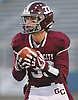 Tyler Wuchte #33 of Garden City returns a kick during the Nassau County Conference II varsity football semifinals against Calhoun at Hofstra University on Friday, Nov. 10, 2017.