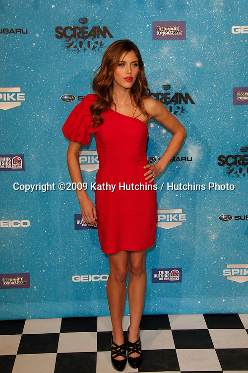 Kayla Ewell.arriving at the  Scream Awards 2009.Greek Theater.Los Angeles,  CA.October 17, 2009.©2009 Kathy Hutchins / Hutchins Photo.