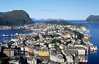 Norwegen, More og Romsdal, Alesund - die Jugendstilstadt: Blick vom Hausberg Aksla | Norway, More og Romsdal, Alesund - the Art Nouveau Town: view from mountain Aksla