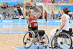 November 18 2011 - Guadalajara, Mexico:  Jessica Vliegenthart of Team Canada while taking on Team USA in the Gold Medal Game in the CODE Alcalde Sports Complex at the 2011 Parapan American Games in Guadalajara, Mexico.  Photos: Matthew Murnaghan/Canadian Paralympic Committee