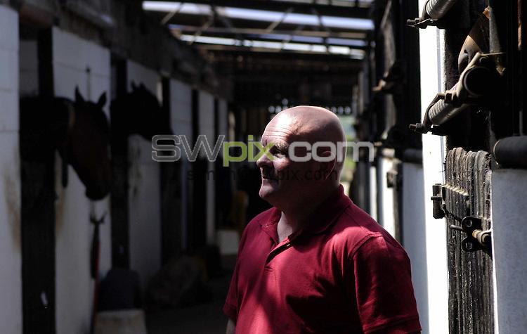 Pix by Ben Duffy/SWpix.com - Horse Racing - Trainer, Dandy Nicholls....09/06/05..Picture Copyright >> Simon Wilkinson >> 07811267706..Yorkshire based Horse racing trainer, Dandy Nicholls