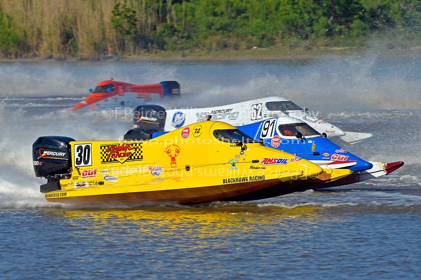Robert Rinker (#30), David Johnigan (#91) and Chris Fairchild (#62)           (Formula 1/F1/Champ class)
