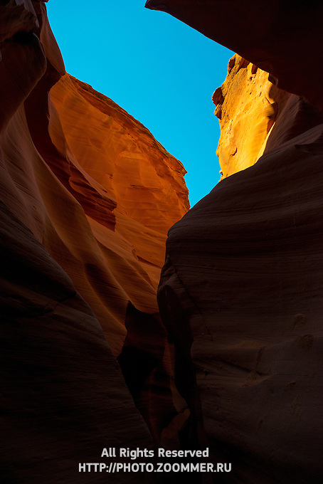 Sandstone Rocks of Antelope Canyon, Arizona