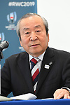Akira Shimazu, <br /> APRIL 26, 2017 : <br /> Agreement concluded by the Organizing Committee <br /> of the Rugby World Cup 2019 and <br /> the Organizing Committee of Tokyo 2020 <br /> in Tokyo, Japan. <br /> (Photo by YUTAKA/AFLO SPORT)