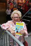 "Dr. Ruth at Broadway Barks 11 - a ""Pawpular"" star-studded dog and cat adopt-a-thon on July 11, 2009 in Shubert Alley, New York City, NY. (Photo by Sue Coflin/Max Photos)"