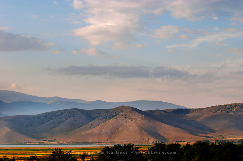Amindeo mountain range, Lake Petron, Amindeo, Macedonia, Greece , Amyndeon