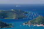 Marina and Approaching Cruise Ship St Thomas US Virgin Islands