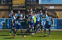 Celebrations as Myles Weston (2nd right) of Wycombe Wanderers scores his goal during the Sky Bet League 2 match between Wycombe Wanderers and Plymouth Argyle at Adams Park, High Wycombe, England on 14 March 2017. Photo by Andy Rowland / PRiME Media Images.