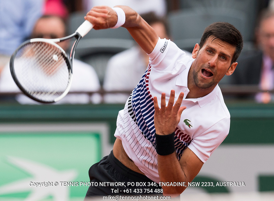 NOVAK DJOKOVIC (SRB)<br /> <br /> TENNIS - FRENCH OPEN - ROLAND GARROS - ATP - WTA - ITF - GRAND SLAM - CHAMPIONSHIPS - PARIS - FRANCE - 2017  <br /> <br /> <br /> <br /> &copy; TENNIS PHOTO NETWORK