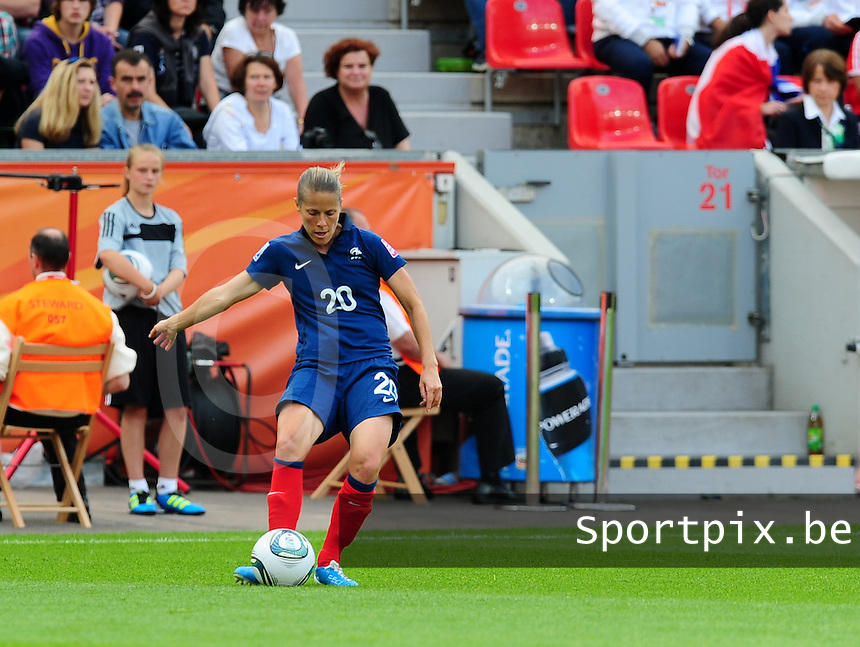 Fifa Women's World Cup Germany 2011 : England - France - at Leverkusen : Sabrina Viguier .foto DAVID CATRY / Vrouwenteam.be