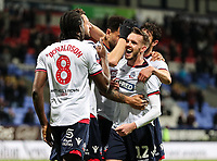 Bolton Wanderers' Clayton Donaldson celebrates scoring his side's third goal with team mate Craig Noone <br /> <br /> Photographer Andrew Kearns/CameraSport<br /> <br /> Emirates FA Cup Third Round - Bolton Wanderers v Walsall - Saturday 5th January 2019 - University of Bolton Stadium - Bolton<br />  <br /> World Copyright &copy; 2019 CameraSport. All rights reserved. 43 Linden Ave. Countesthorpe. Leicester. England. LE8 5PG - Tel: +44 (0) 116 277 4147 - admin@camerasport.com - www.camerasport.com