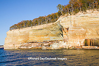 64745-00119 Pictured Rocks National Lakeshore in fall from Lake Superior near Munising MI