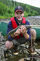 Grayling fishing on the Chatanika River, Fairbanks, Alaska