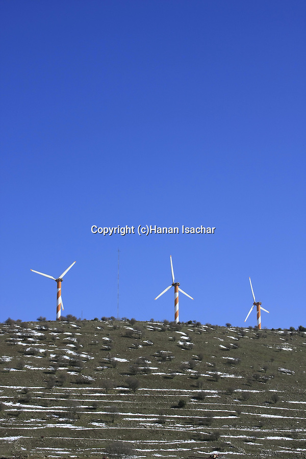 Golan Heights, wind turbines farm
