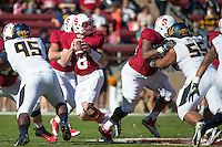 Stanford, CA -- November 23, 2013:  Stanford's Kevin Hogan during a game against Cal at Stanford Stadium. Stanford defeated Cal 63-13.