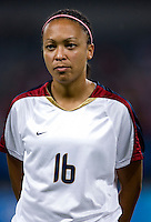 Angela Hucles. The USWNT defeated Canada in extra time, 2-1, during the 2008 Beijing Olympics in Shanghai, China.